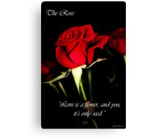 The Rose Card Canvas Print