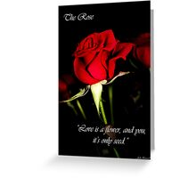 The Rose Card Greeting Card