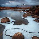 Rannoch Moor Ice Art by David Mould