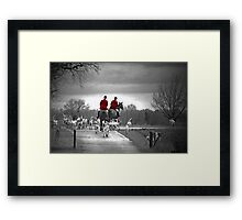Red Riding Coats Framed Print