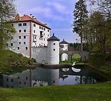 Snežnik castle by Knedl