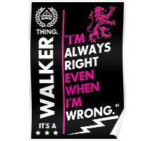 WALKER THING Poster