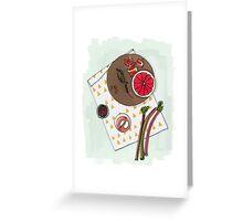 Grapefruit Mixer Greeting Card