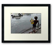 Monsoon. Kolkata Framed Print