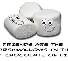 FRIENDS ARE THE MARSHMALLOWS IN THE HOT CHOCOLATE OF LIFE by CalliopeSt