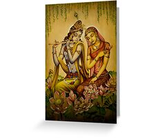 The nectar of Krishnas flute Greeting Card