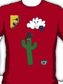 Cactus Cartoon T-Shirt