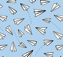 Paper Planes in Blue by Tangerine-Tane