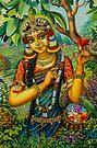Radha at Govardhan hill by Vrindavan Das