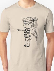 Cute Little Girl Pointing Unisex T-Shirt