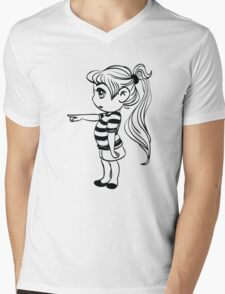 Cute Little Girl Pointing T-Shirt