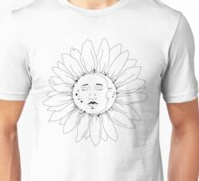 Sun and Moon Sunflower Unisex T-Shirt
