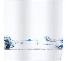 Winter landscape inspirated by Japanese art. Poster