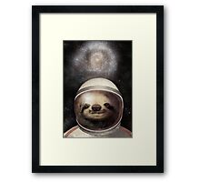 Space Sloth Framed Print
