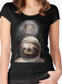 Space Sloth Women's Fitted Scoop T-Shirt