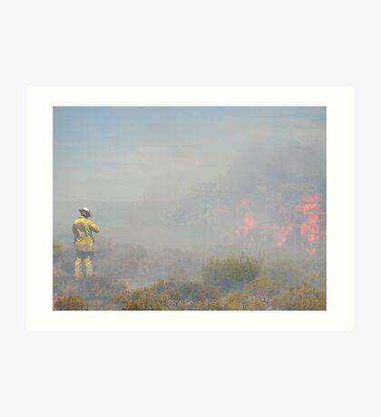 Working on the fireline Art Print