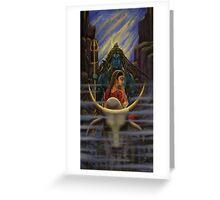 Shiva Parvati. Night in Himalayas Greeting Card