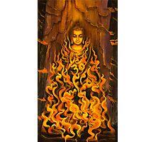 Buddha. Fire of meditation Photographic Print