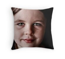 Little Miss E Throw Pillow