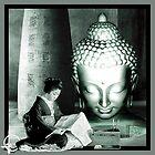 Geisha reading to buddha by TRASH RIOT