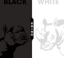 Color: Black/White Rhinos by PepomintNarwhal