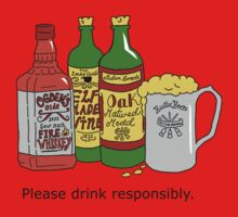 Please Drink Responsibly Baby Tee