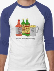 Please Drink Responsibly Men's Baseball ¾ T-Shirt