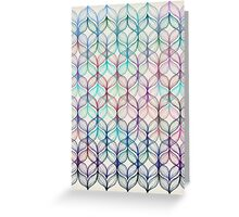 Mermaid's Braids - a colored pencil pattern Greeting Card