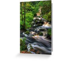 Highland Burn in spate, Summer. Scotland. Greeting Card