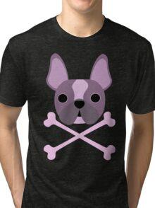 Bull(dog) and Crossbones #3 Tri-blend T-Shirt