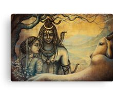 Shiva and Parvati. Spring in Himalayas Canvas Print