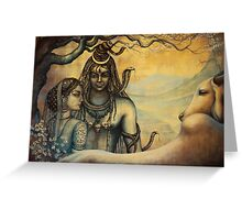 Shiva and Parvati. Spring in Himalayas Greeting Card