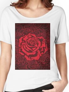 Red Roses Women's Relaxed Fit T-Shirt