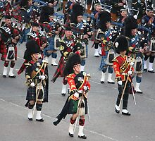 The massed pipers of Edinburgh by candmtait