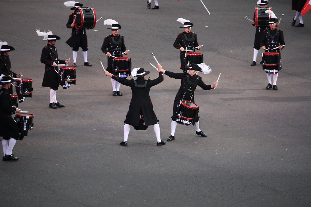 The Top Secret Drum Corp of Switzerland by candmtait