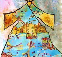 Kimono GRRRRL...mixed media by motherhenna