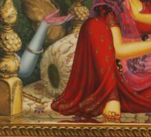 Radha and Krishna Man lila in Vrindavan Sticker