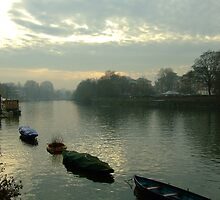 Winter light on the Thames. Near Richmond. by Fineli