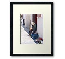 Selling Tomatoes Framed Print