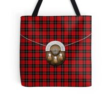 Clan Ramsay Tartan And Sporran Tote Bag