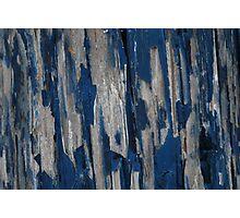 blue peeling  Photographic Print