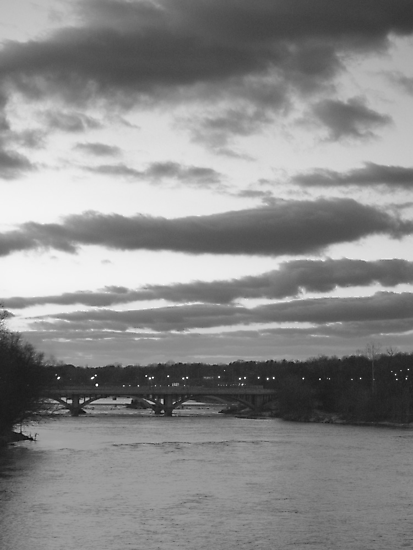 bridge in black and white by BCallahan
