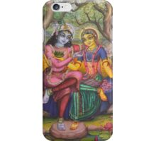 Radha and Krishna on Govardhan iPhone Case/Skin