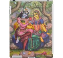 Radha and Krishna on Govardhan iPad Case/Skin
