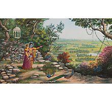 Radha and Krishna on Govardhan hill Photographic Print