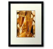 Two champagne glasses Framed Print