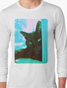 Vintage Aqua Kitty Long Sleeve T-Shirt