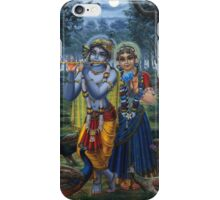 Radha and Krishna on full moon iPhone Case/Skin
