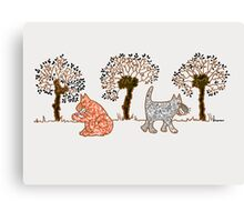 cats 'n willows too Canvas Print