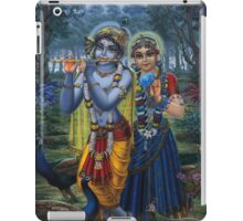 Radha and Krishna on full moon iPad Case/Skin